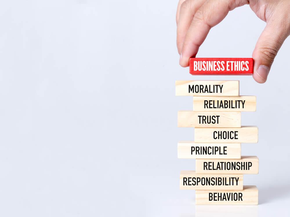 Business Ethik Leitbild